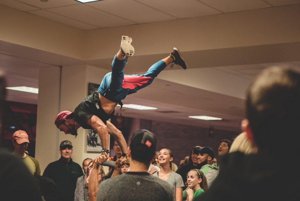 Travis Wolfpack Ninjas Handstand