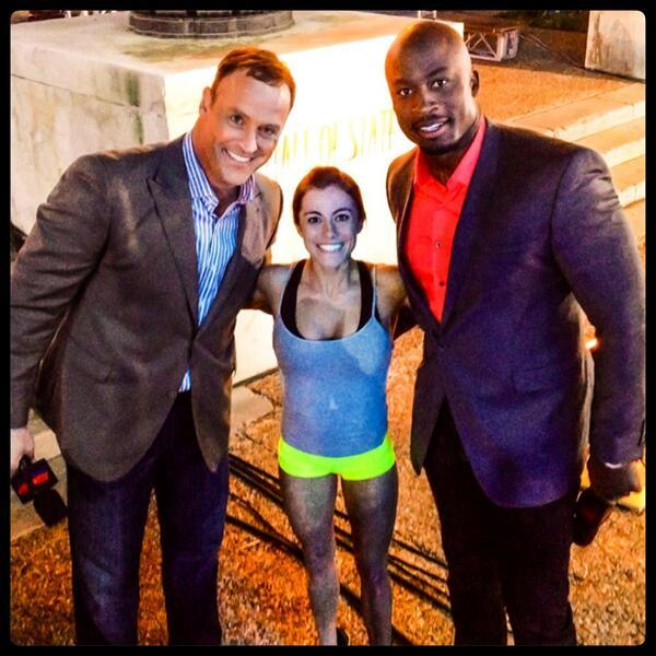 Kacy Catanzaro with Matt Iseman and Akbar G.